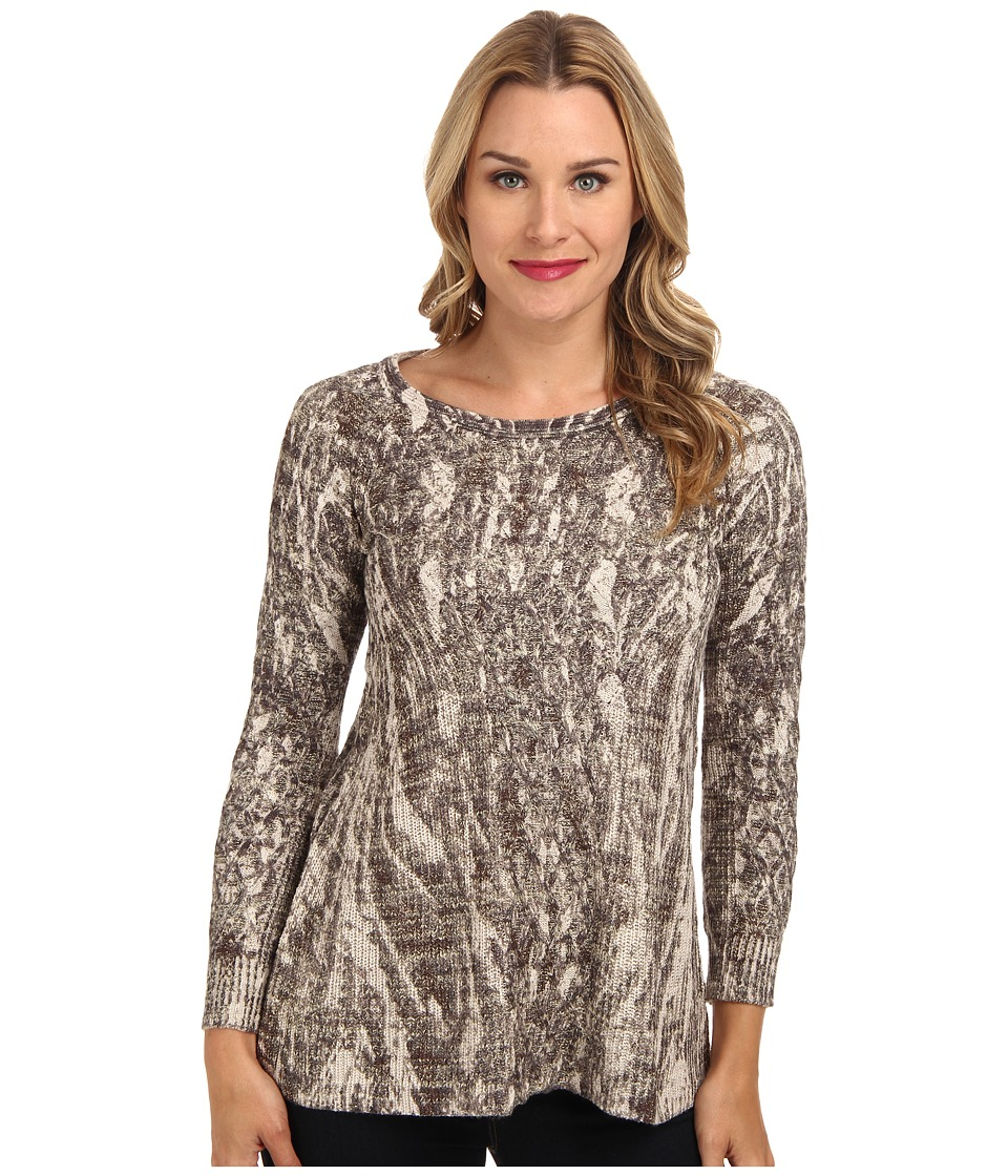 NIC+ZOE - Cable Print Top (Multi) Women's Sweater