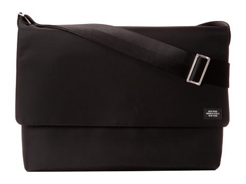 Jack Spade - Arch Nylon Field Messenger (Black) Messenger Bags