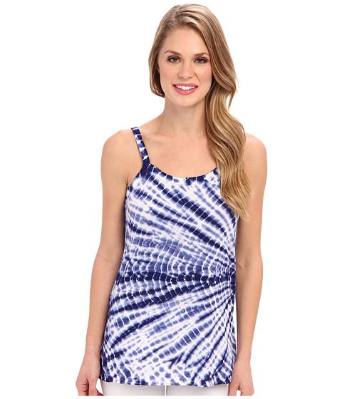 Allen Allen - Tie Dye Tank (New Blue) Women's Sleeveless