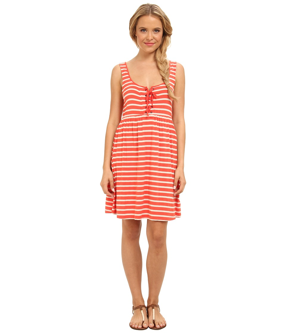 Volcom - Play Along Dress (Coral Haze) Women's Dress