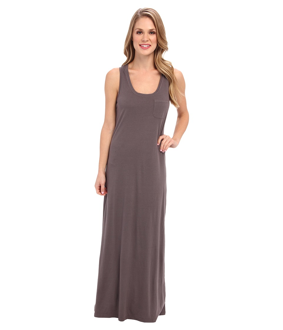 Allen Allen Cotton Modal One-Pocket Tank Dress (Dark Grey) Women