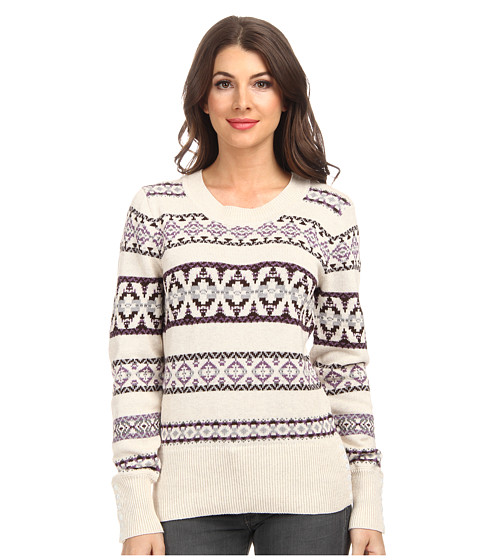 Pendleton - Fair Isle Pullover (Natural Heather Multi) Women's Long Sleeve Pullover