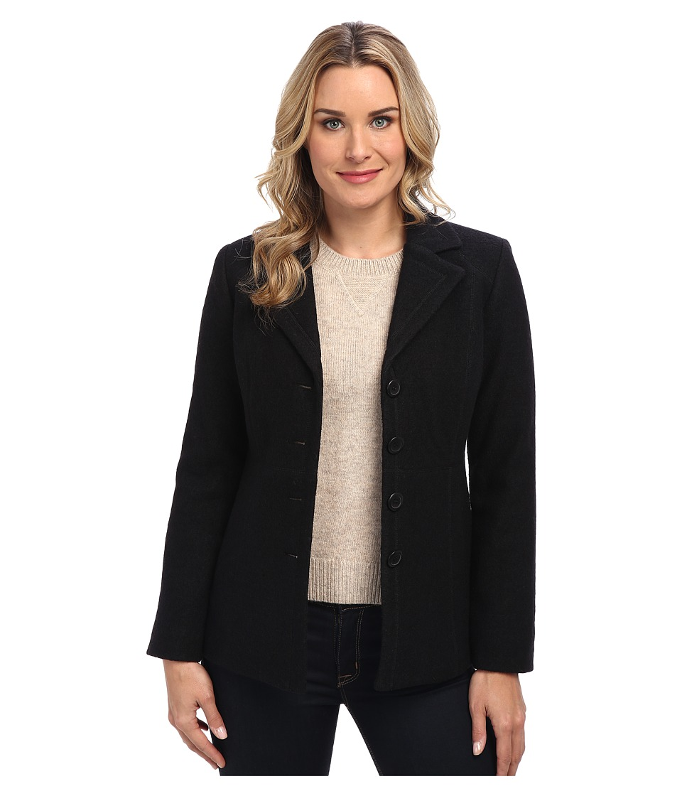 Pendleton - Jane Boiled Wool Jacket (Black) Women's Jacket