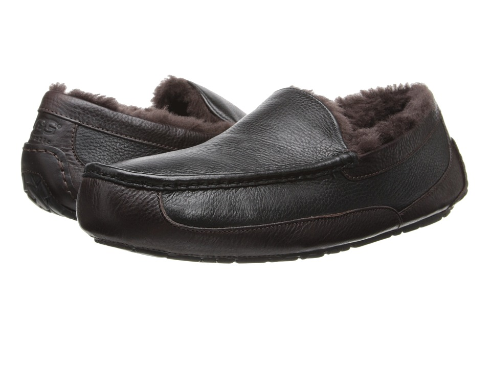 UGG - Ascot (Black/China Tea) Men's Slippers
