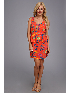 SALE! $19.99 - Save $19 on Angie Floral Print Dress (Orange) Apparel - 48.74% OFF $39.00