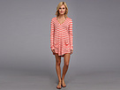 Ella Moss Solids Cover Up Hooded Tunic (Coral) Women's Swimwear