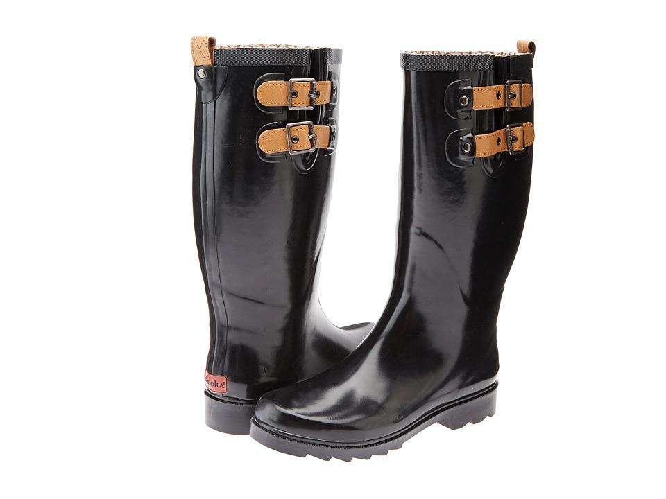 Chooka Top Solid Rain Boot (Black) Women