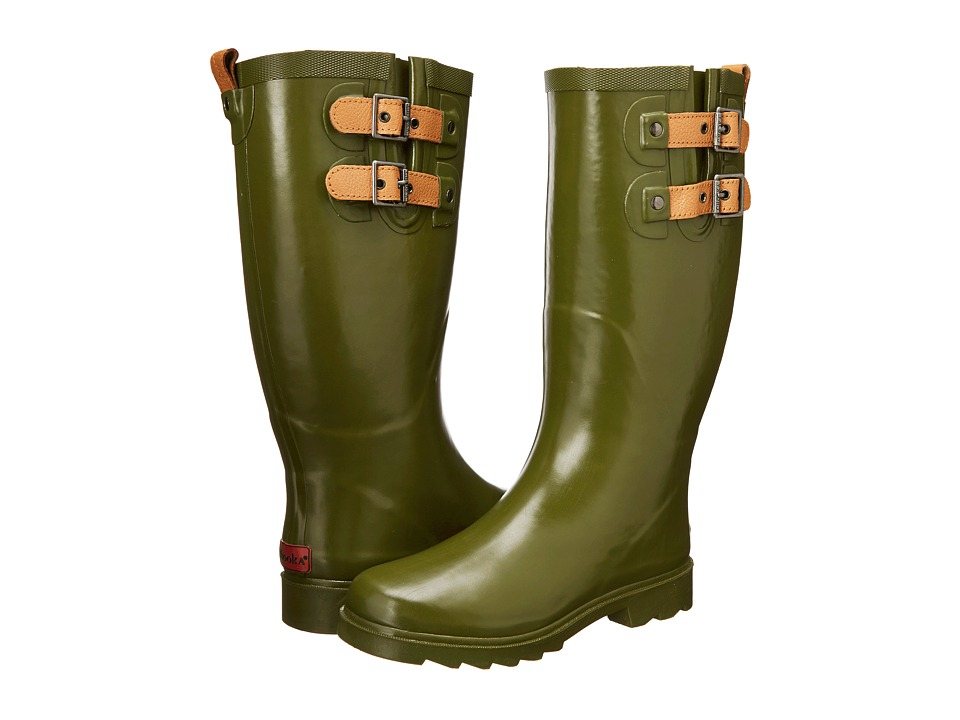 Chooka Top Solid Rain Boot (Olive Drab) Women