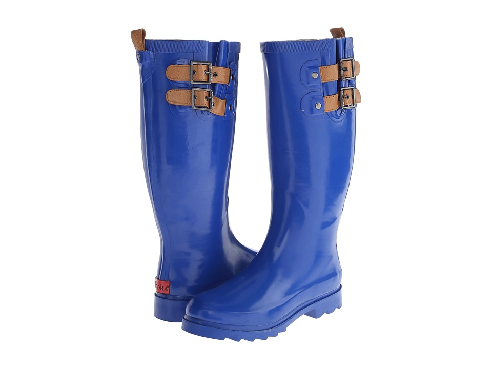 Chooka - Top Solid Rain Boot (Cobalt/Cobalt/Academy) Women's Rain Boots