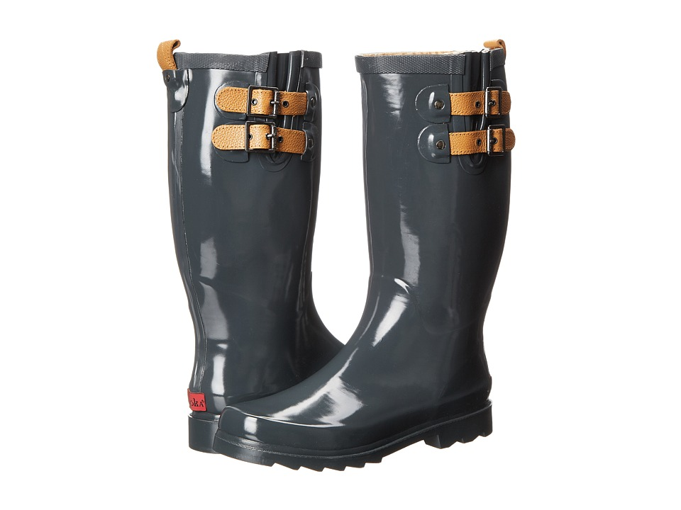 Chooka - Top Solid Rain Boot (Charcoal) Women