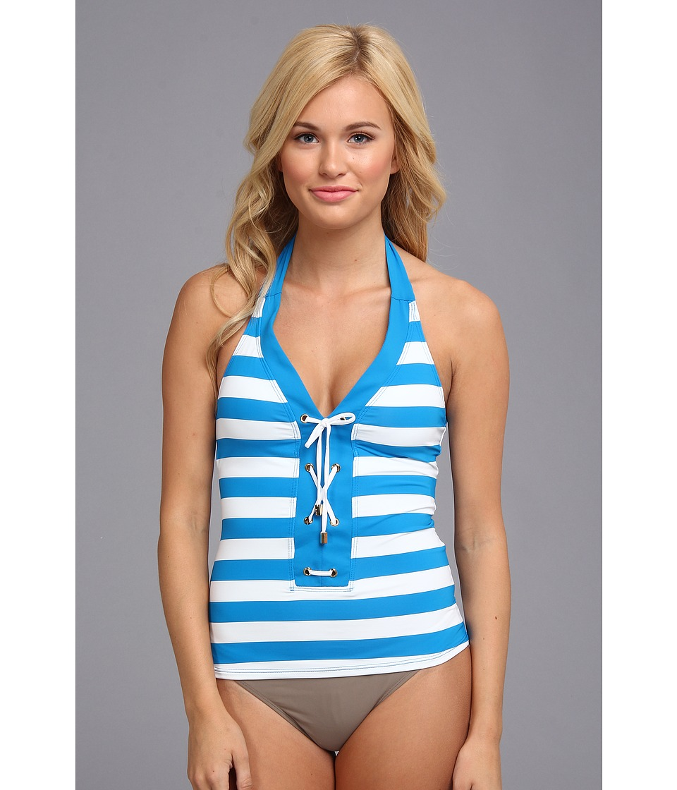 Bleu Rod Beattie - Jailhouse Rock Tankini Top (Cerulean) Women's Swimwear