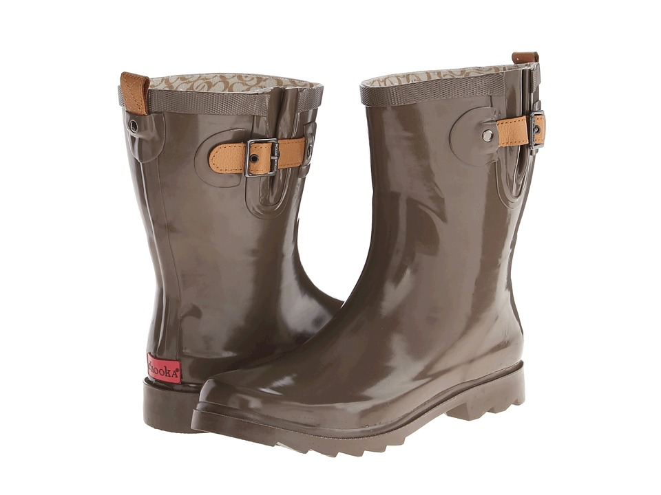 Chooka - Top Solid Mid Rain Boot (Taupe) Women
