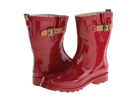 Chooka - Top Solid Mid Rain Boot (Crimson) Women's Rain Boots