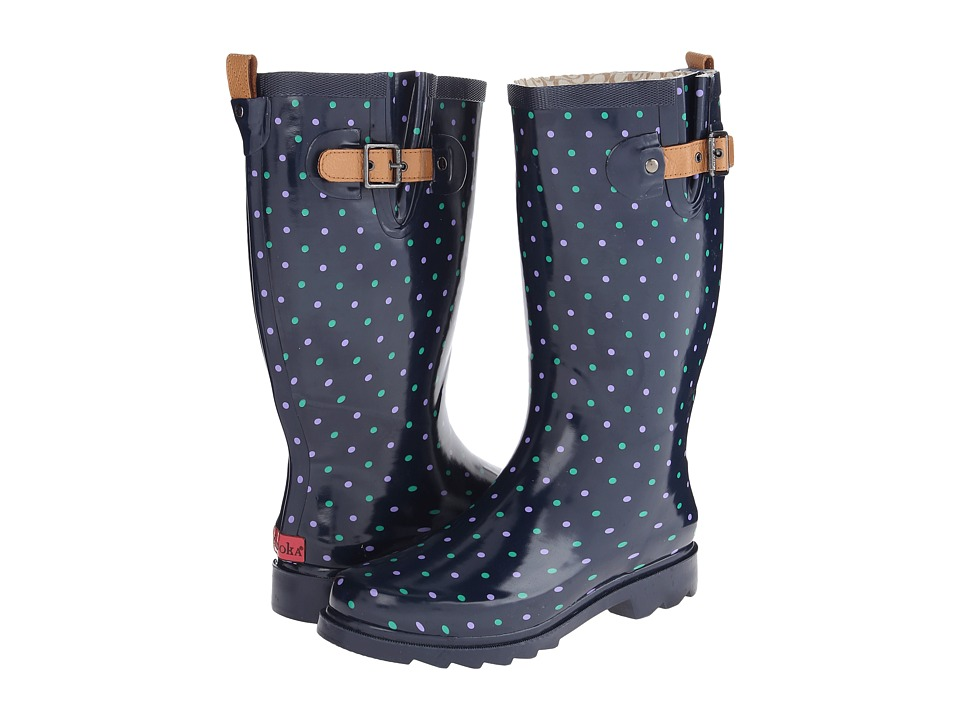 Chooka - Classic Dot Rain Boot (Twilight Blue) Women's Rain Boots