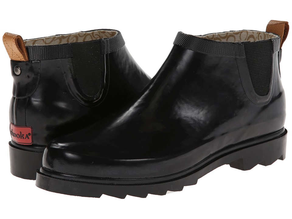 Chooka - Top Solid Low Rain Boot (Black) Women