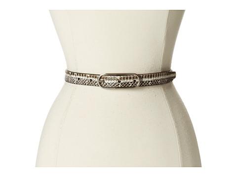 Calvin Klein - 20mm Strap w/ Python Print (White) Women's Belts