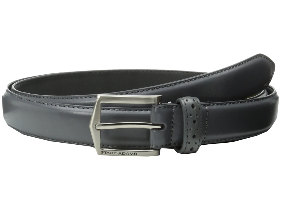 Stacy Adams - 30mm Pinseal Leather Belt X (Gray) Men's Belts