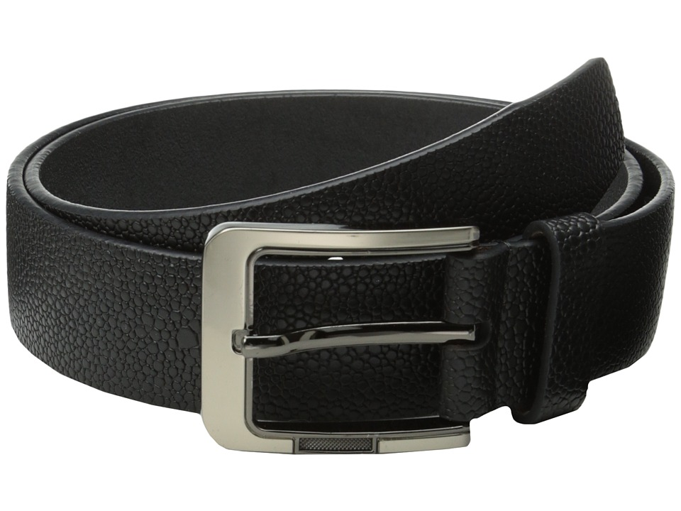 Stacy Adams - 38mm Large Pebble Grain Leather (Black) Men's Belts