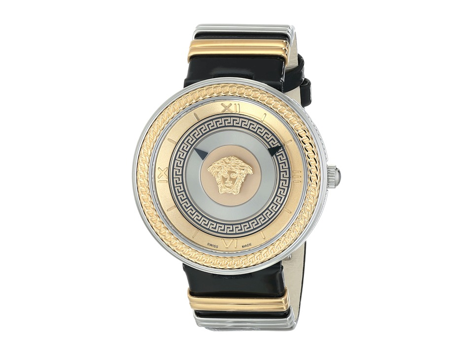 Versace - V-Metal Icon VLC02 0014 (Stainless Steel/Rose Gold/Black) Watches