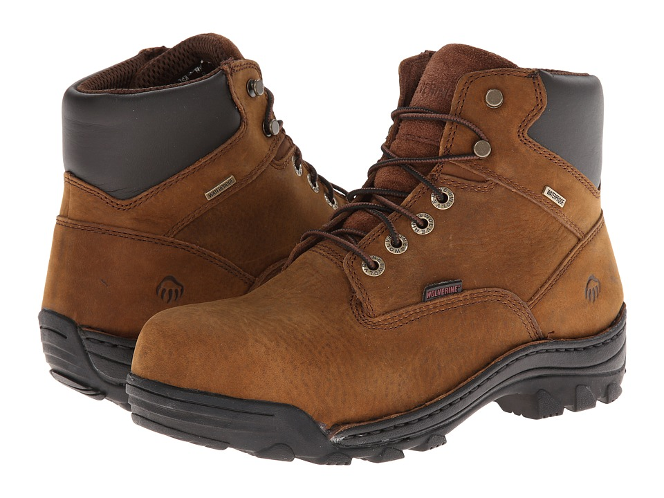 Wolverine - Durbin Waterproof 6 (Brown) Men's Waterproof Boots