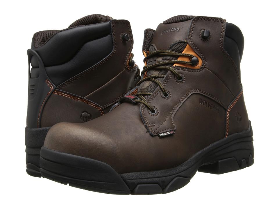 Wolverine - Merlin Peakag Anti-Gravity Waterproof (Brown) Men's Waterproof Boots