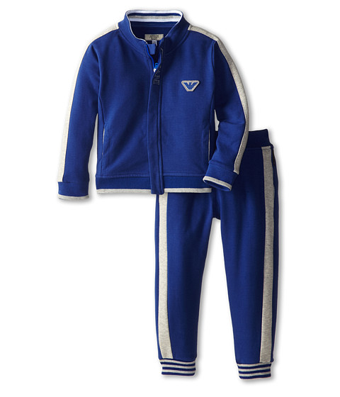 Armani Junior - Zip Up Track Suit (Infant) (Royal Blue/Grey) Boy