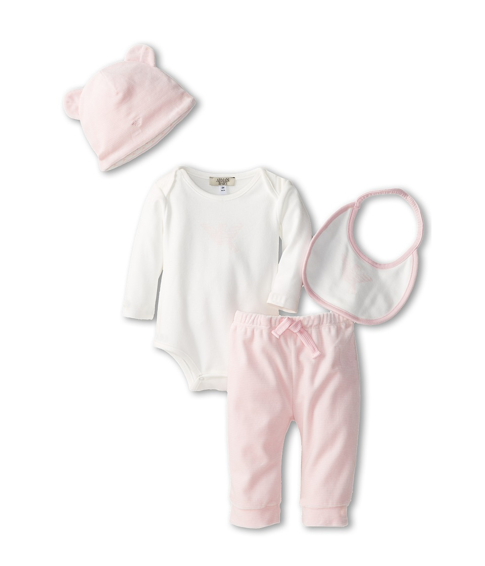 Armani Junior - Package - 4 Pieces (Infant) (White) Boy's Active Sets