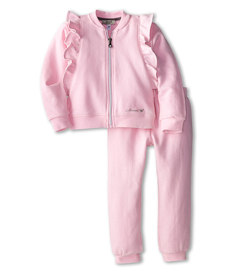 Armani Junior - Zipup Tracksuit (Infant) (Rosa/Pink) Girl's Suits Sets