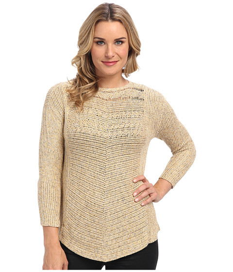 NIC+ZOE - Rich Stitch Top (Multi) Women's Long Sleeve Pullover