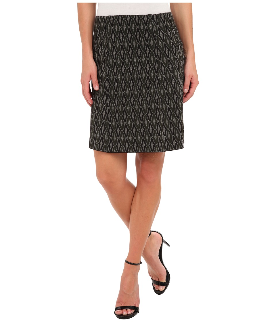 NIC+ZOE - Sparkle Jacquard Wink Skirt (Multi) Women's Skirt