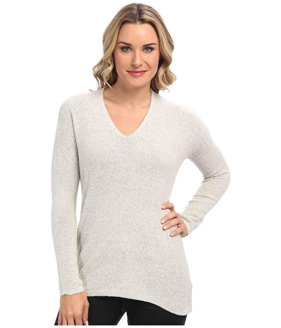 NIC+ZOE - Cozy Ribbed Back Top (Birch) Women's Long Sleeve Pullover
