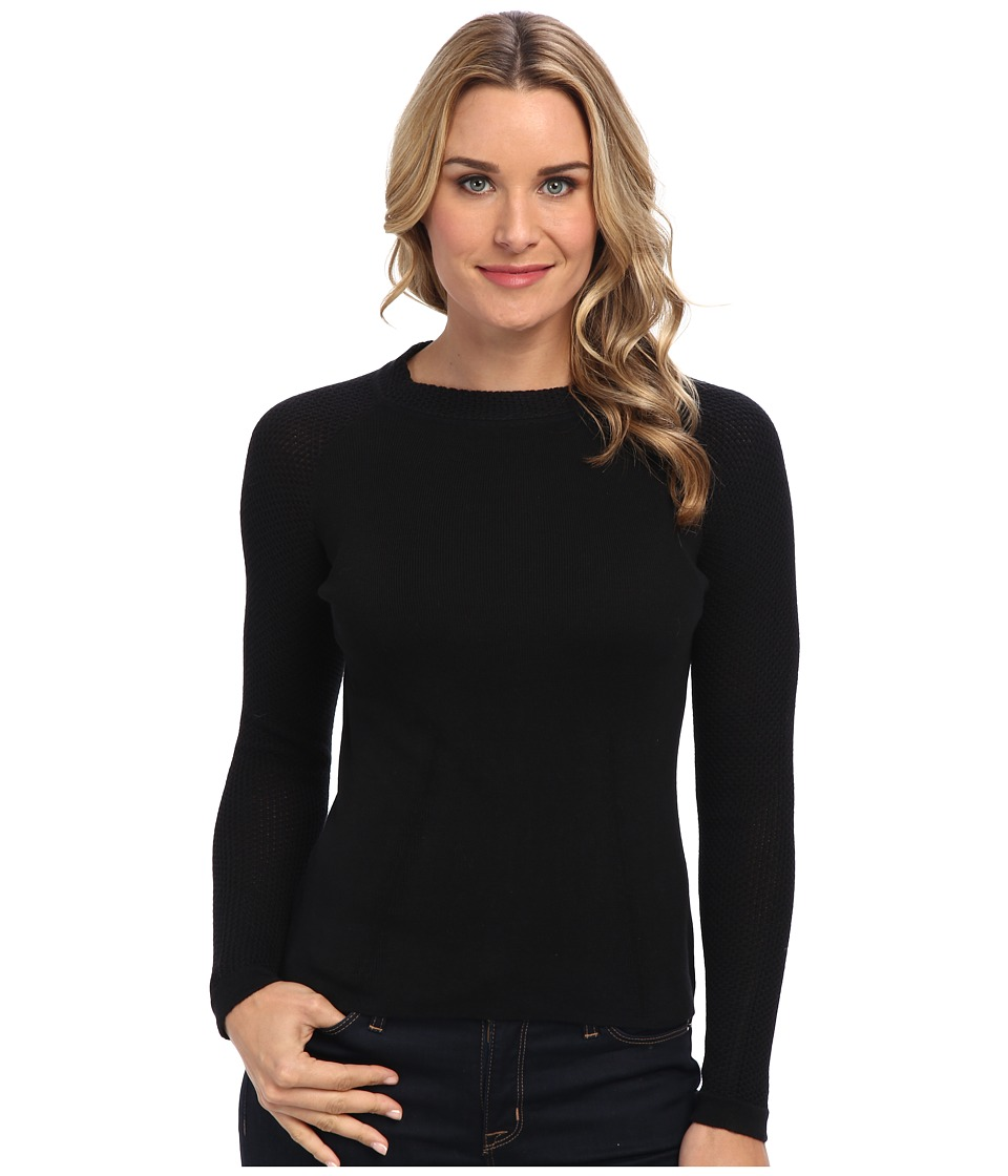 NIC+ZOE - Audrey Top (Black Onyx) Women's Long Sleeve Pullover