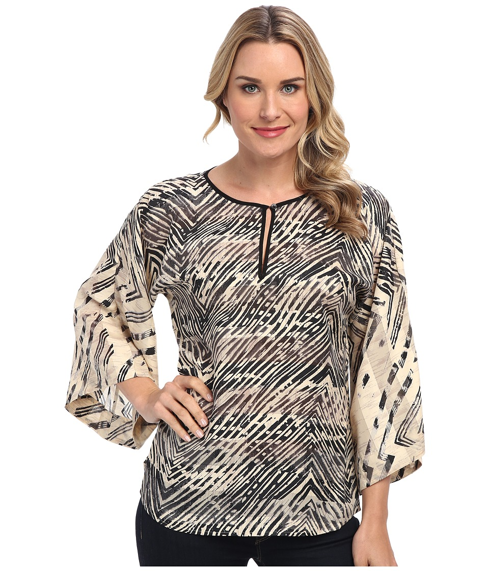 NIC+ZOE - Linear Strokes Shirt (Multi) Women's Long Sleeve Pullover