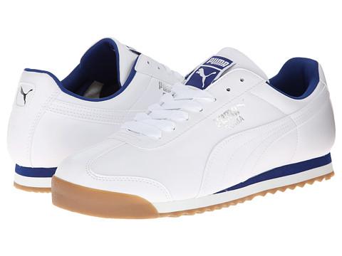 PUMA - Roma Basic (White/Limoges) Men's Shoes