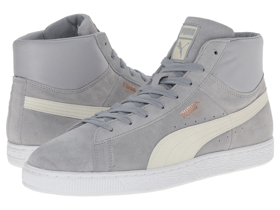 PUMA - Suede Mid Classic Nat Calm 2 (Quarry/Marshmallow) Men's Classic Shoes