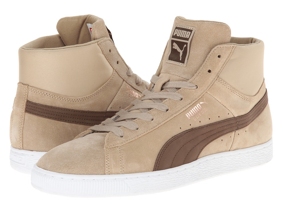 PUMA - Suede Mid Classic Nat Calm 2 (Cornstalk/Carafe) Men's Classic Shoes