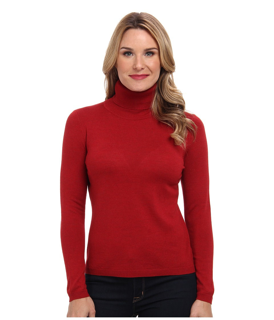 Pendleton - Classic Turtleneck Sweater (Red Rock Heather) Women's Long Sleeve Pullover