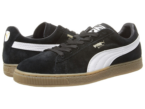 PUMA - Suede Classic+ Leather FS (Black/White Leather) Men