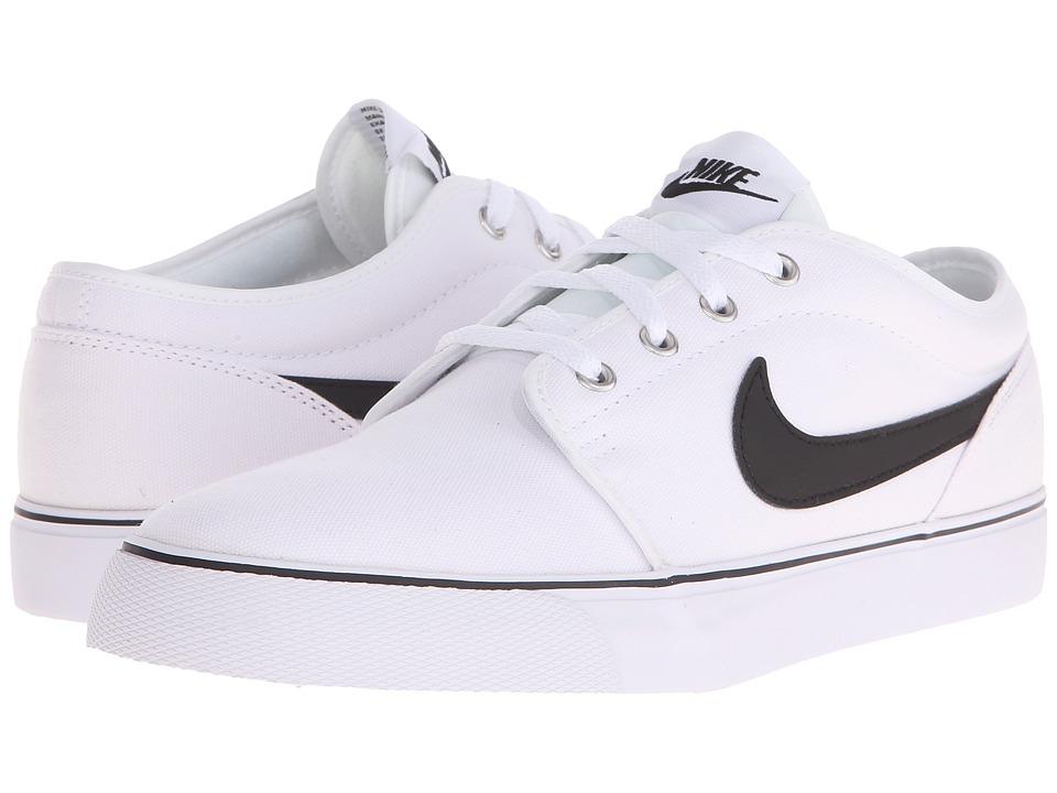Nike - Toki Textile - Low (White/Black) Men's Shoes