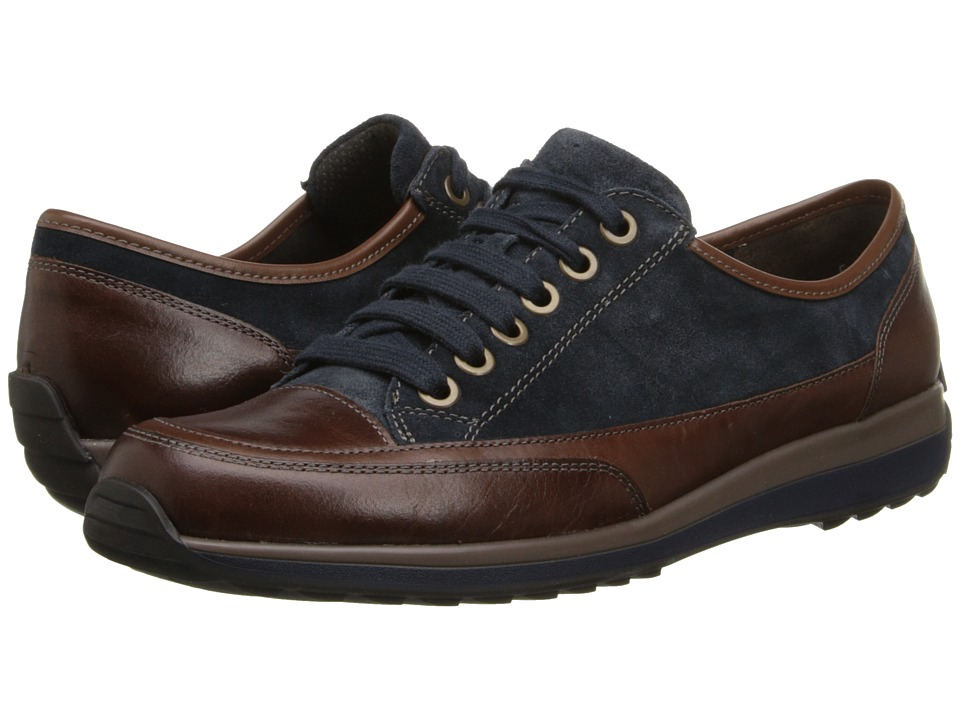 ara Hermione (Navy Suede/Brown Calf) Women