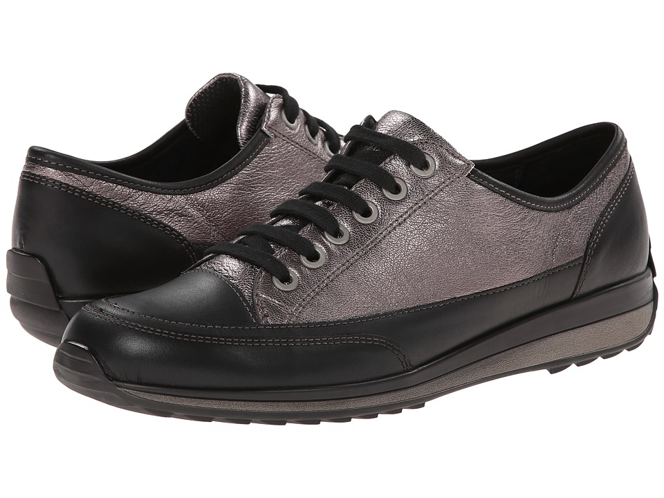 ara Hermione (Silver Metallic/Black Calf) Women