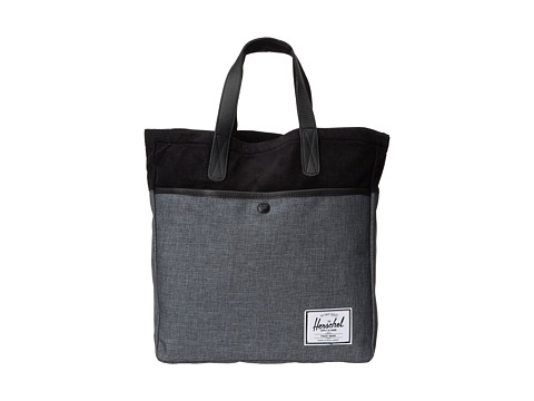 Herschel Supply Co. - Brohm Bag (Black Crosshatch/Black) Tote Handbags