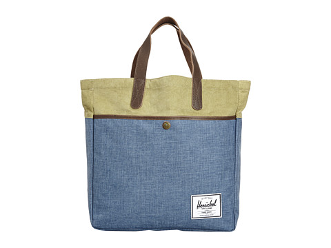 Herschel Supply Co. - Brohm Bag (Navy Crosshatch/Straw) Tote Handbags