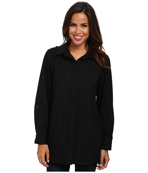 Pendleton - Ultra 9 Stretch Worsted Mallory Tunic (Black Ultra 9 Stretch Worsted) Women