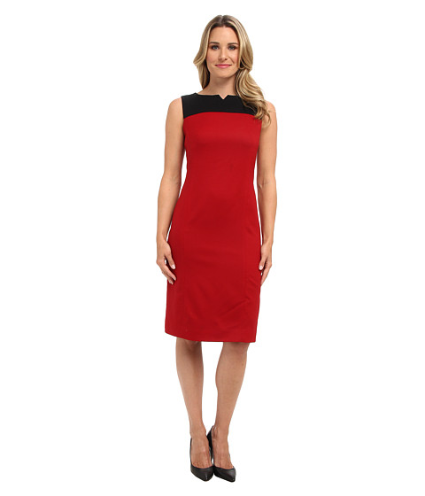 Pendleton - Ultra 9 Stretch Worsted Color Block Sheath Dress (Red Rock Ultra 9 Stretch Worsted) Women's Dress
