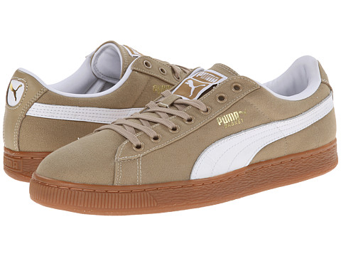 PUMA - Basket Classic Canvas (Cornstalk/White) Athletic Shoes