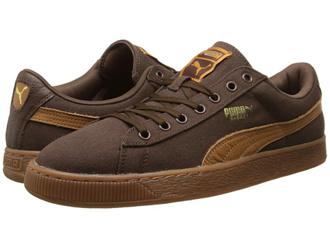 PUMA - Basket Classic Canvas (Carafe/Cashew) Athletic Shoes