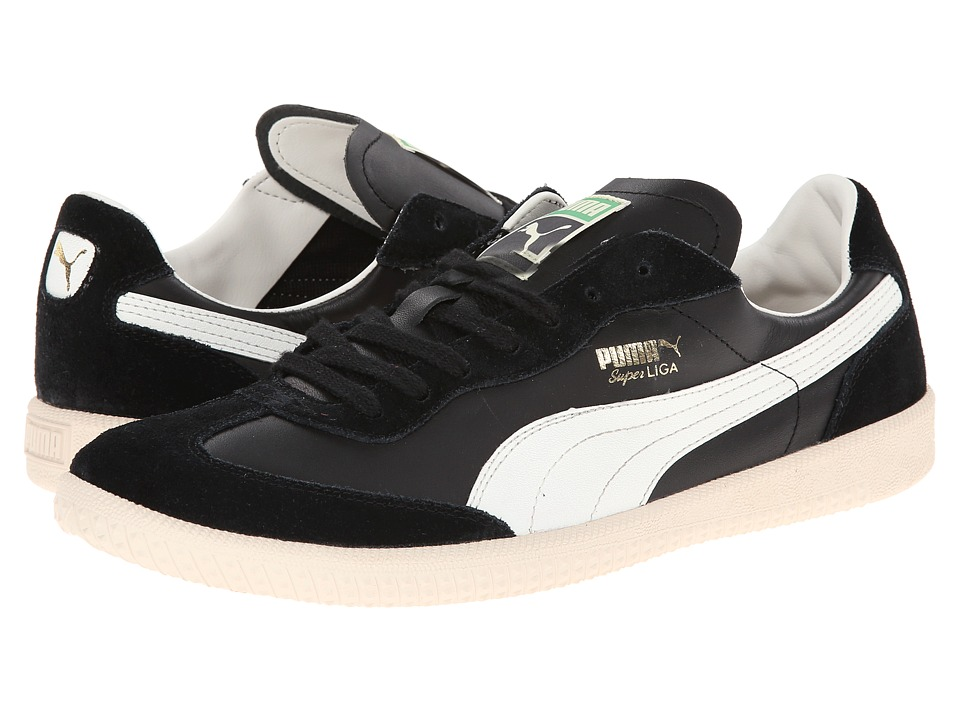 PUMA - Super Liga OG Retro (Black/Marshmallow) Men's Classic Shoes