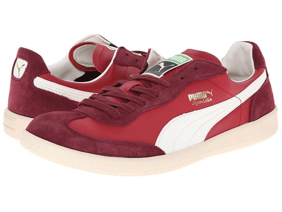 PUMA - Super Liga OG Retro (Jester Red/Marshmallow) Men's Classic Shoes
