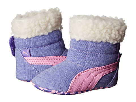 Puma Kids - Baby Boot Fur (Infant/Toddler) (Blue Iris/Lilac Chiffon) Girls Shoes
